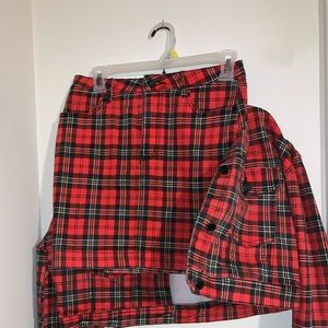 Missguided Plaid Co-ord